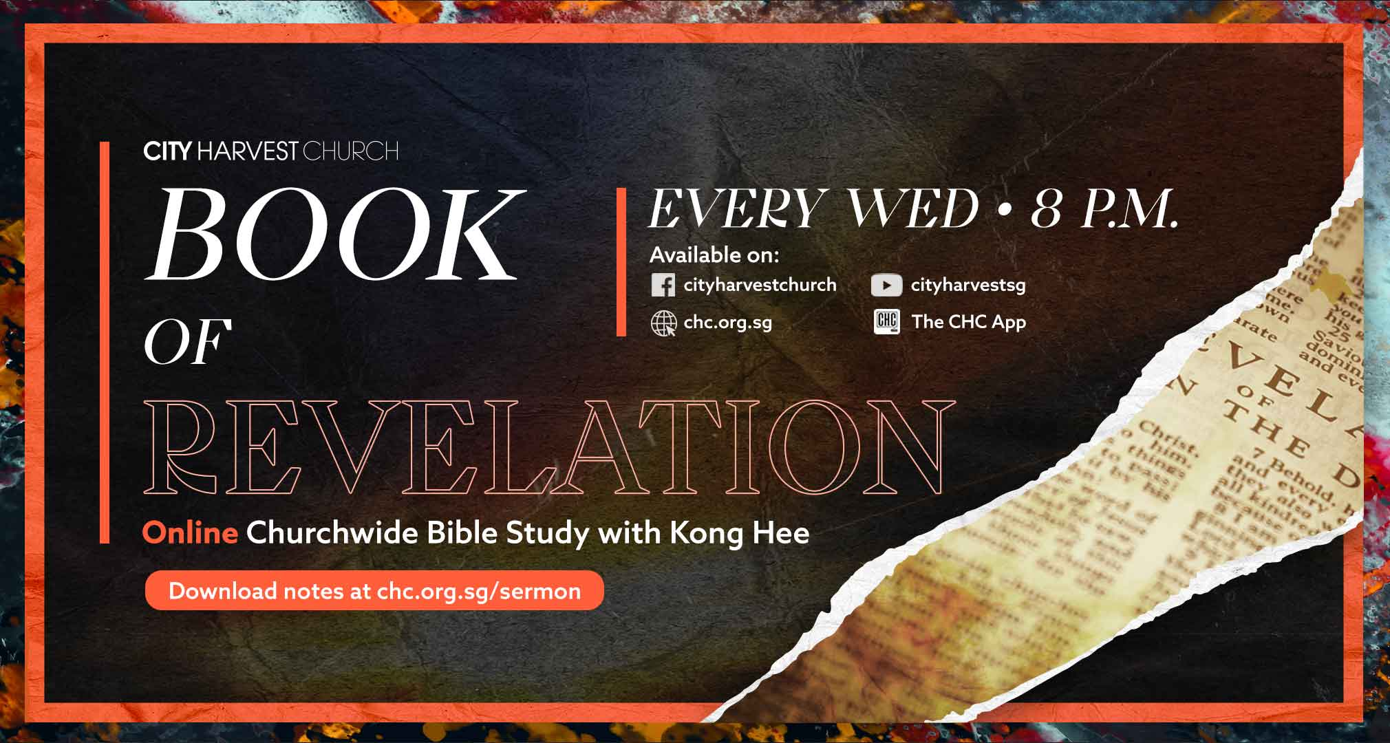 Book of Revelation - Online Churchwide Bible Study with Kong Hee