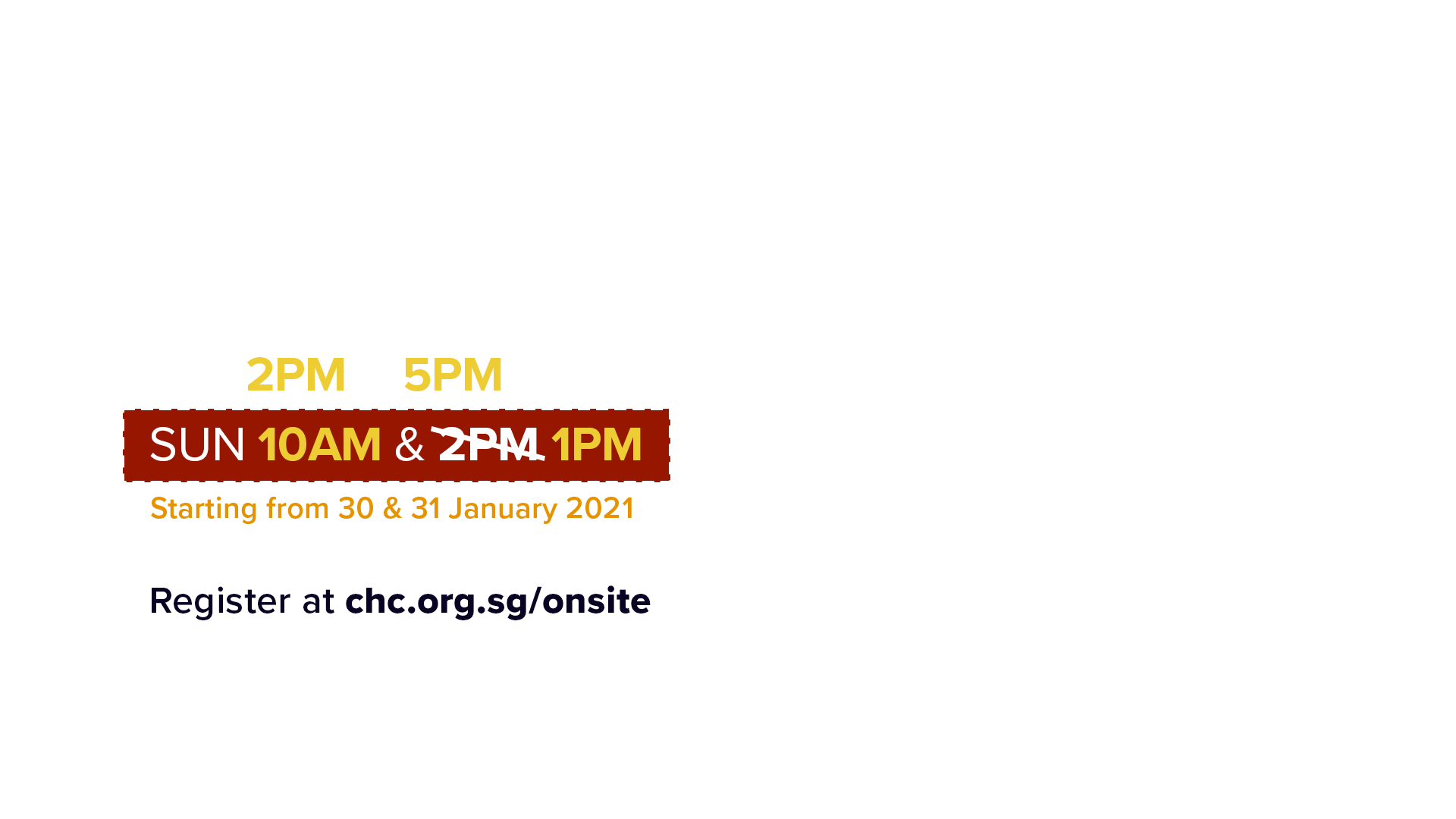 Weekend Services at Hall 606 Theatre